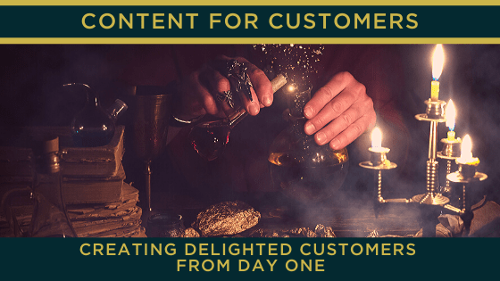 Using content to give a new customer a great experience